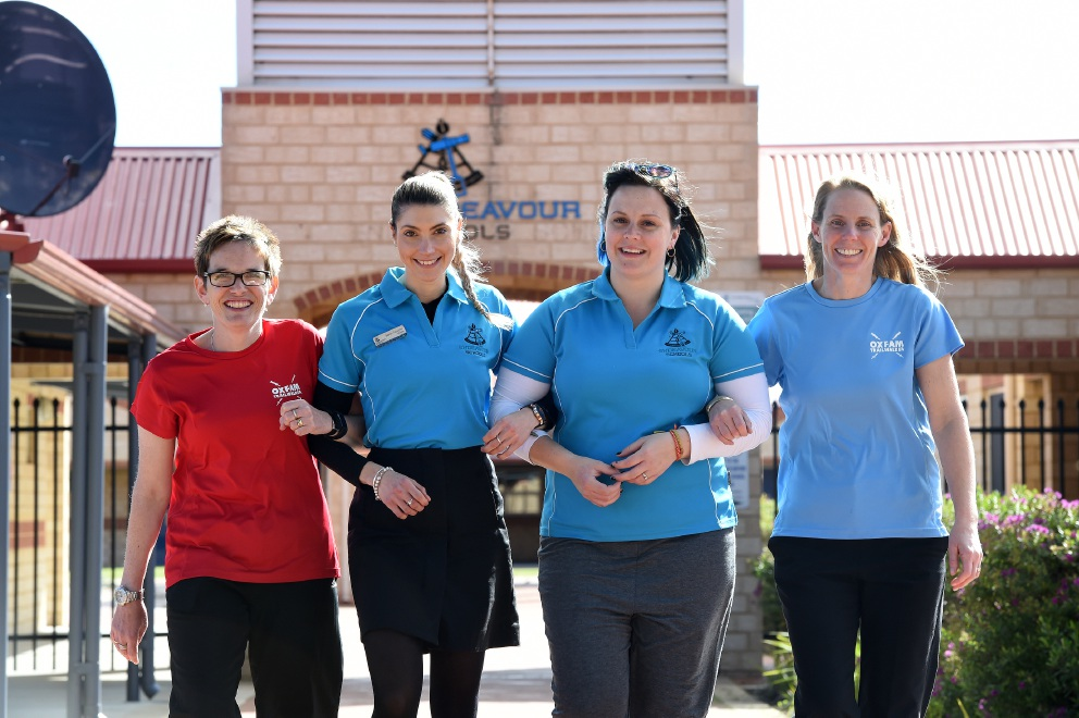 Teachers Ashley MacLure, Sarah Tassicker, Claire Selkirk and Donna Pollock make up Team Endeavour.