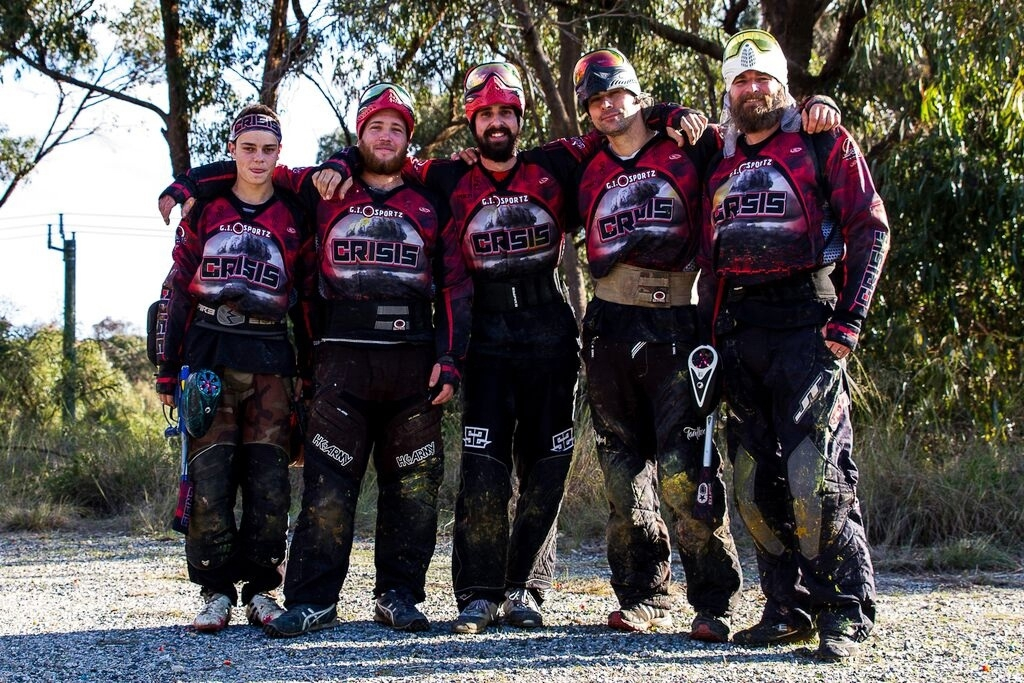 Perth Crisis paintball players.Picture: Mary Walker from Scary Mary Photography