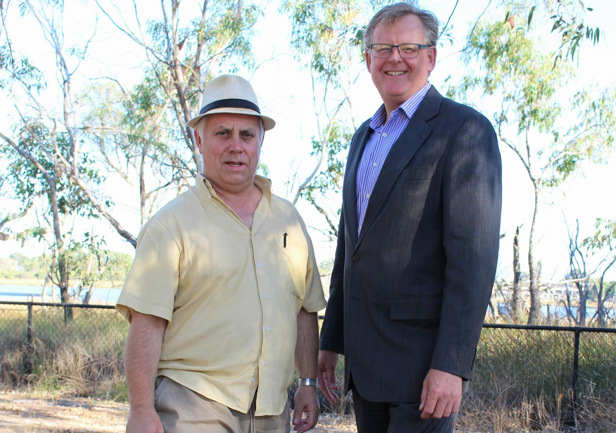 Melville Resident and Ratepayers Association president Gary Crawford and secretary Mark McLerie.