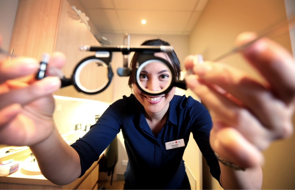 Morley Galleria OPSM area eye care manager WA Stephanie Bahler. Picture: David Baylis        www.communitypix.com.au   d444441