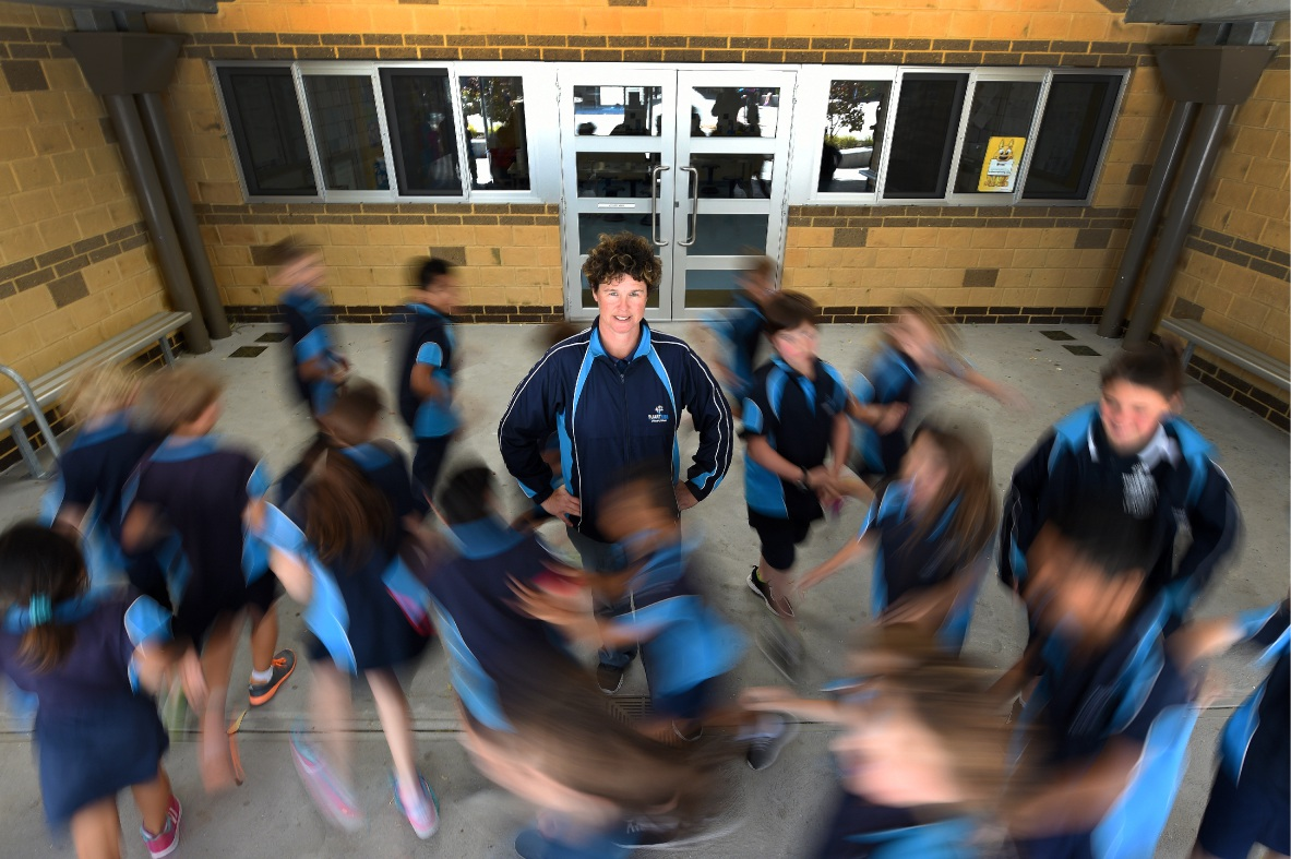 Passion to see kids do well: Physical education teacher Brigit Wall is in the running for the title of Primary Teacher of the Year.