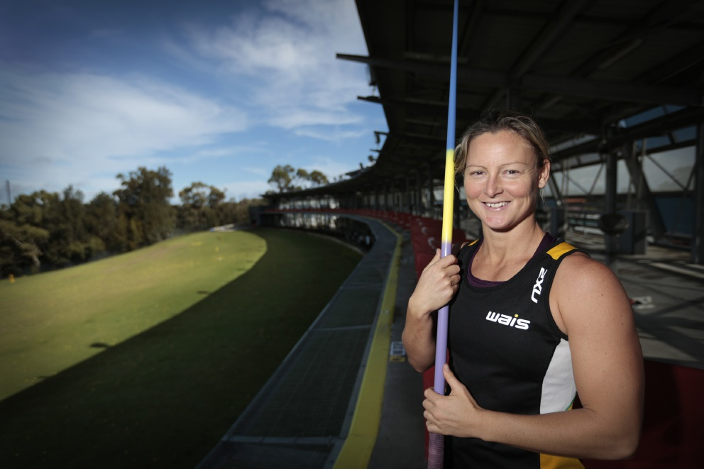 Olympic javelin thrower Kim Mickle. Picture: Andrew Ritchie
