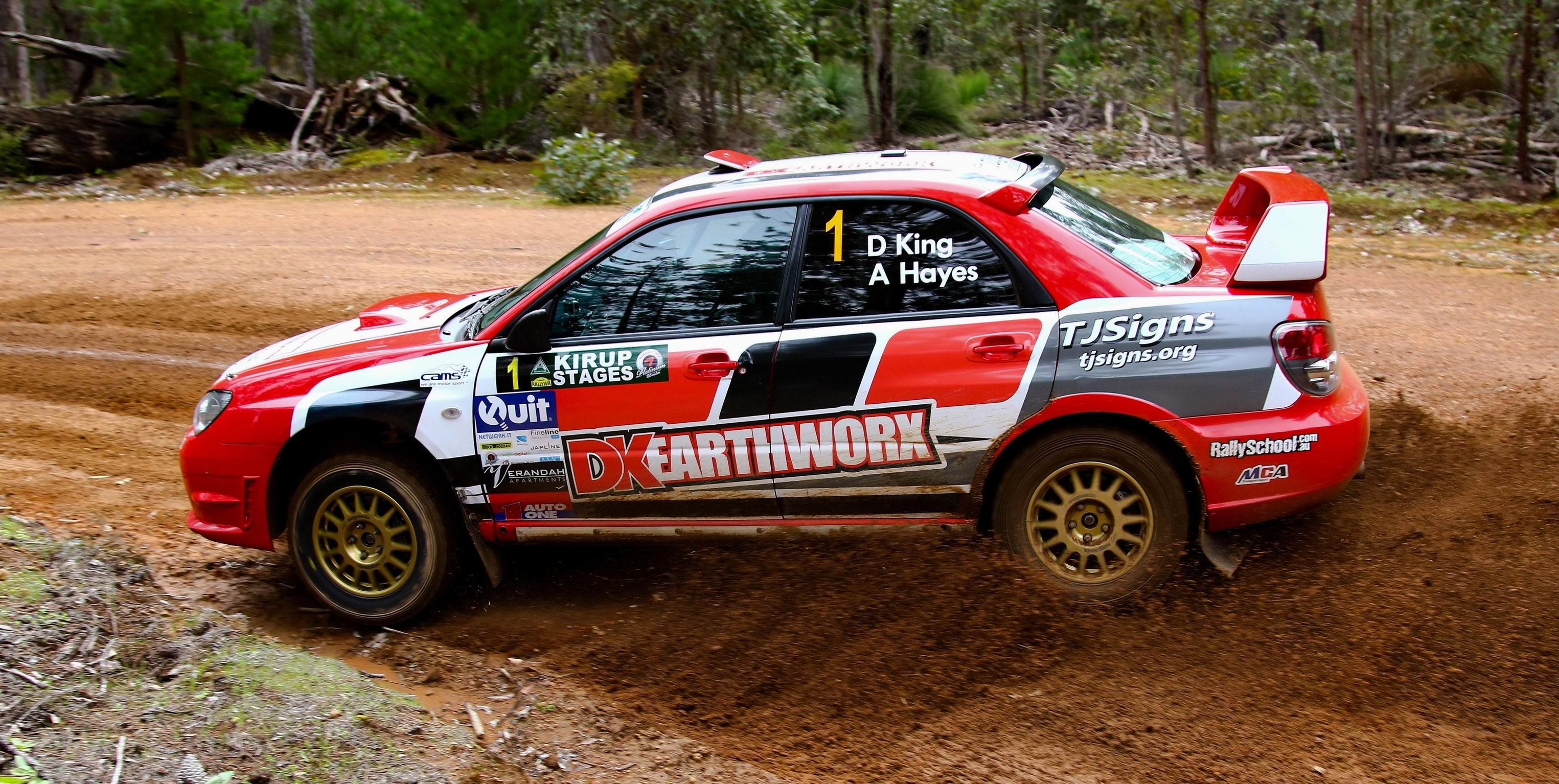 Kirup Stages Rally tight at the top