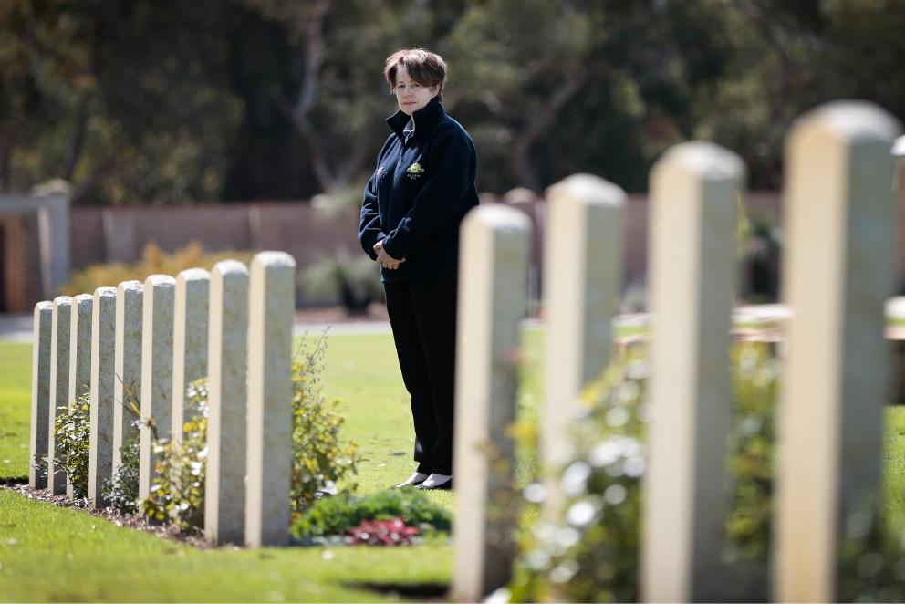 Sue Carter has an ambitious plan to honour our war dead. Picture: Andrew Ritchie www.communitypix.com.au   d458648
