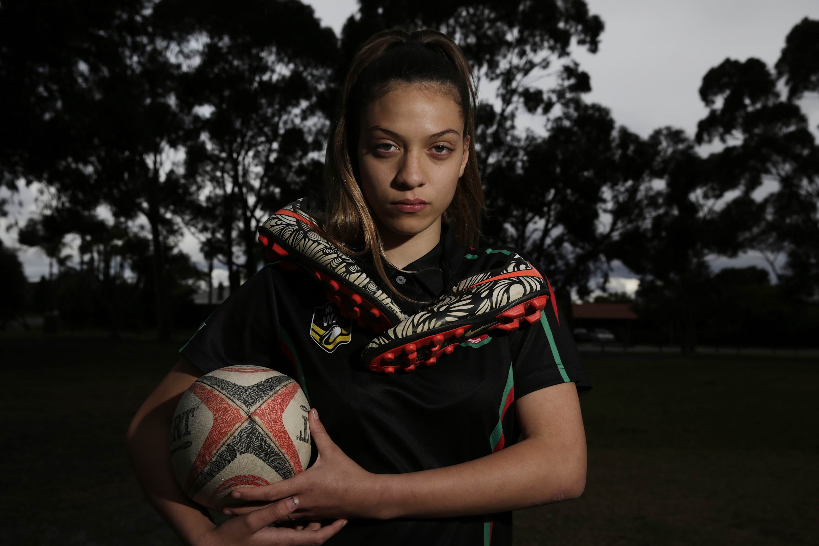 Zakiya Kereopa (15) Noranda plays NRL for Ellenbrook Rabbitohs and her team won their grand final last week and will be representing WA in an upcoming tournament.