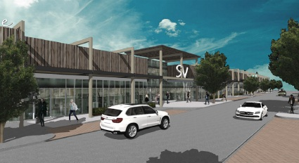 An artist's impression of the Shorehaven Village shopping centre.