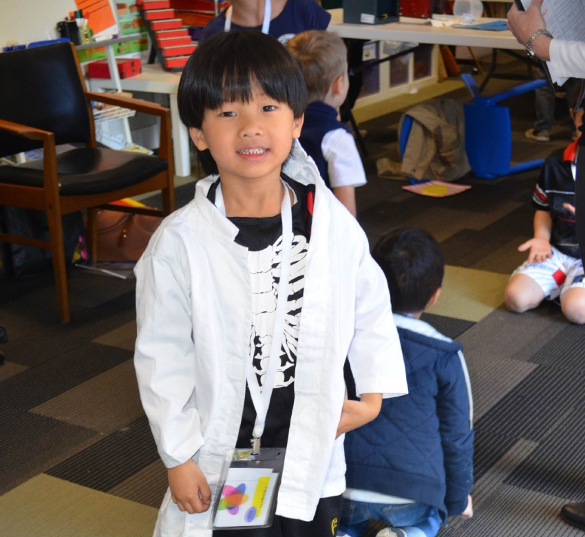 Wesley College Junior School student Jacob Leong gets involved in the STEAM Day.