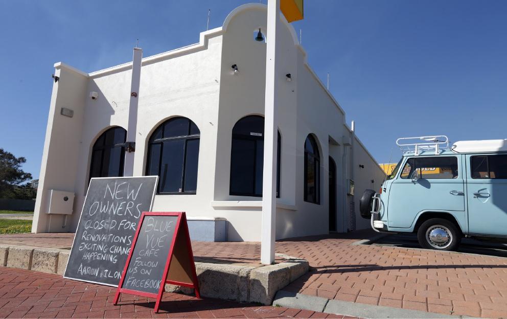 Blue Vue Cafe.
