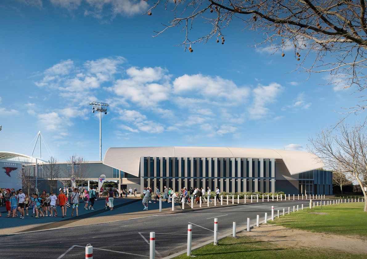 An artist's impression of the new West Perth clubrooms.