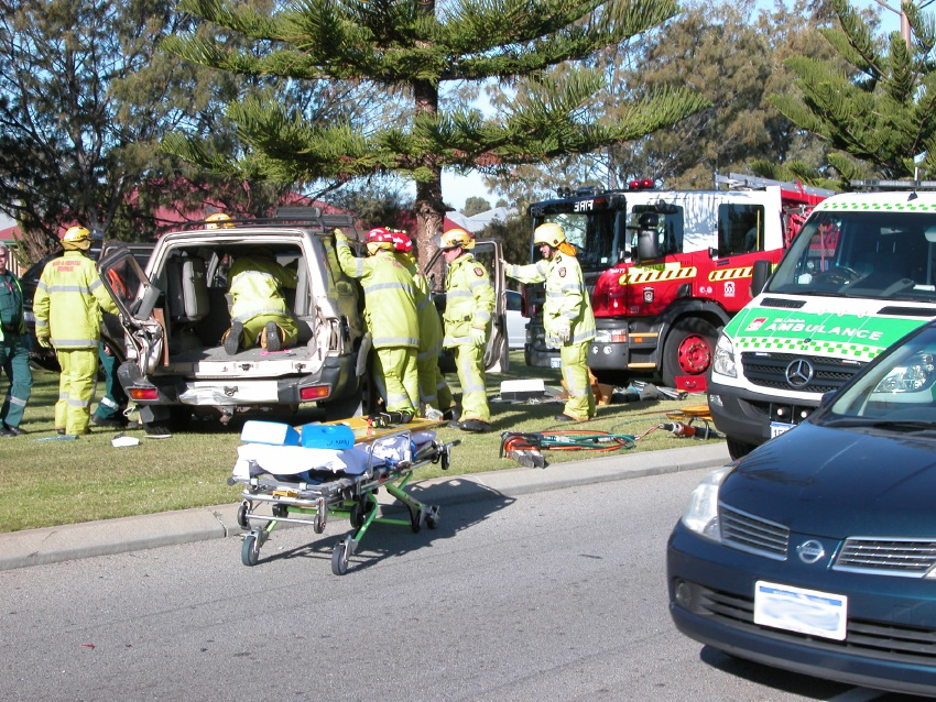 The aftermath of the crash. Picture: Kylie Oliver