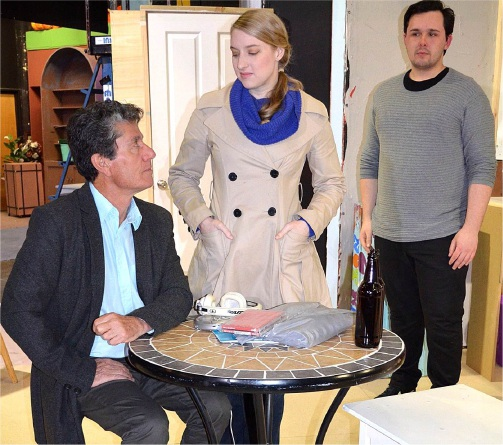 Gino Cataldo, Emma Shaw and Jacob Turner in a scene from Skylight.