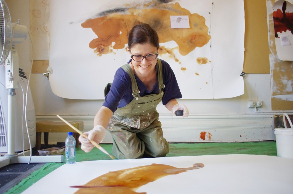 Marisa Tindall in her Artsource Midland studio. Picture: Sue-Lyn Moyle