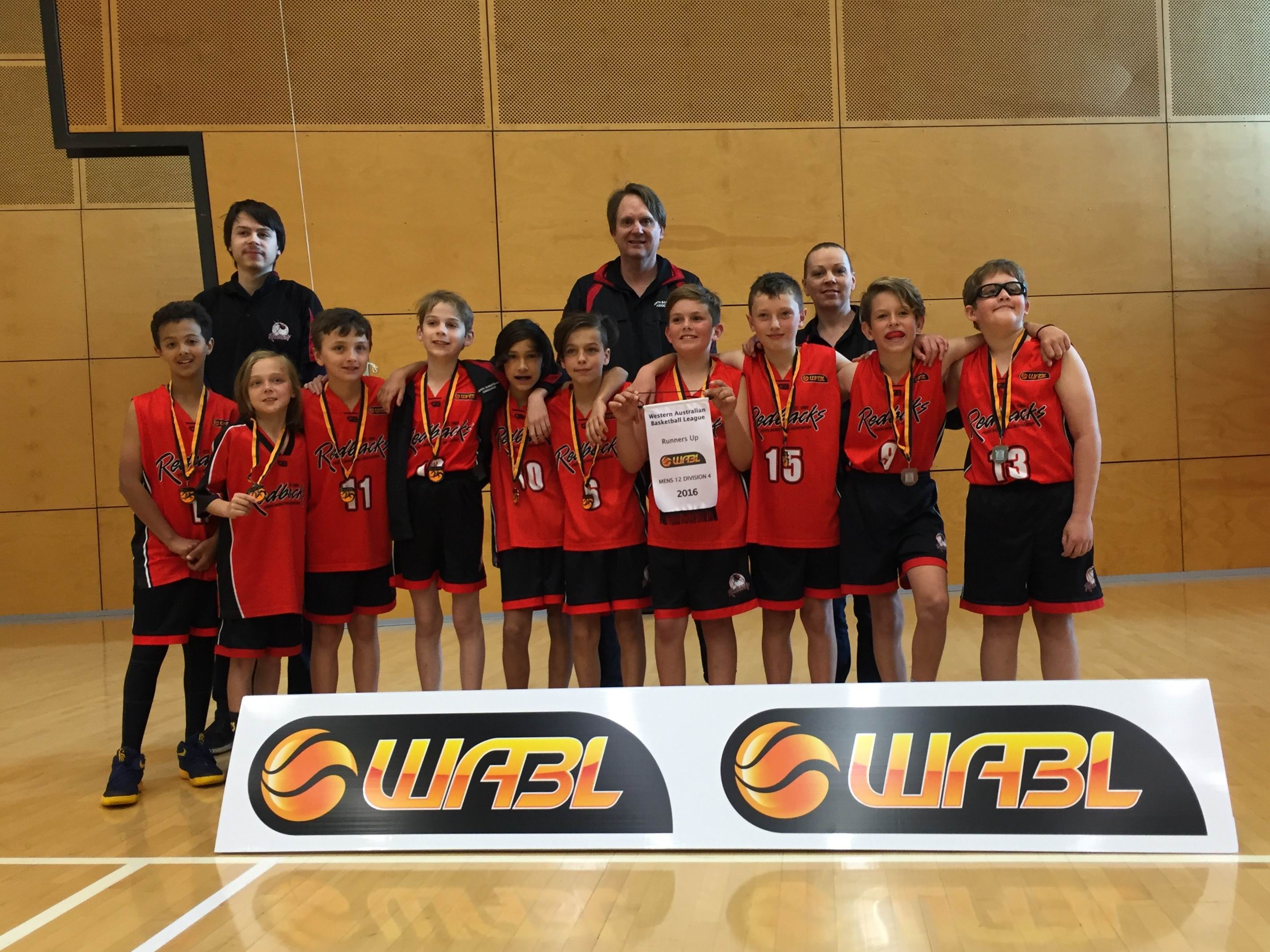 The Perth Redbacks under-12 4 boys team were runners-up after losing their grand final to the South West Slammers.