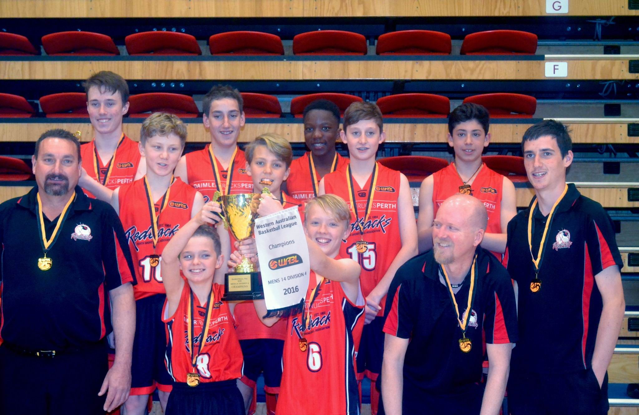 The Perth Redbacks under-14 4 boys team beat the Stirling Senators to win their grand final.