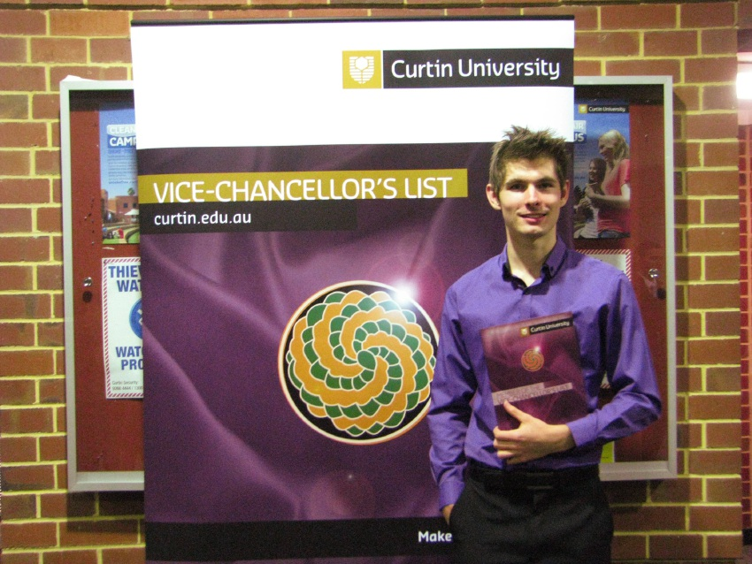 Jonathan Howell has been awarded membership of Curtin's Vice-Chancellor's List.