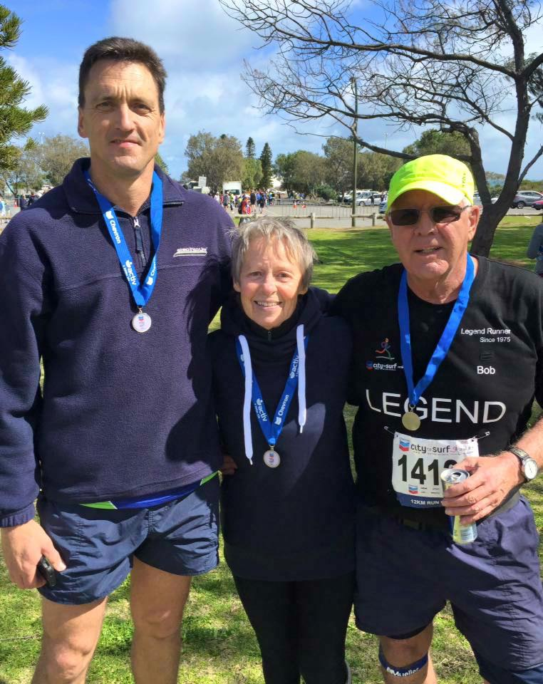 Gideon Lemmer with Alison and Bob Johnstone after the race.