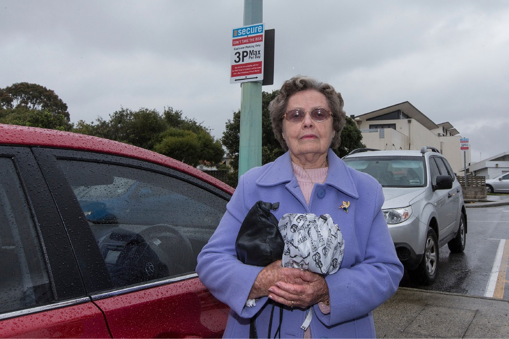 Rosemary Baker complained about a parking fine at Melville Plaza.