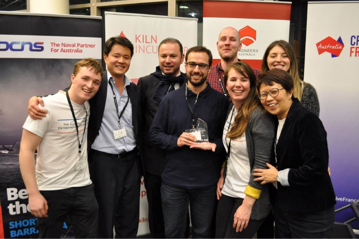 Notre Dame PhD candidate Linda Khong (front right) is part of a team heading on a sponsored trip to France after winning the inaugural Australian-French 24-hour Entrepreneurship Challenge.
