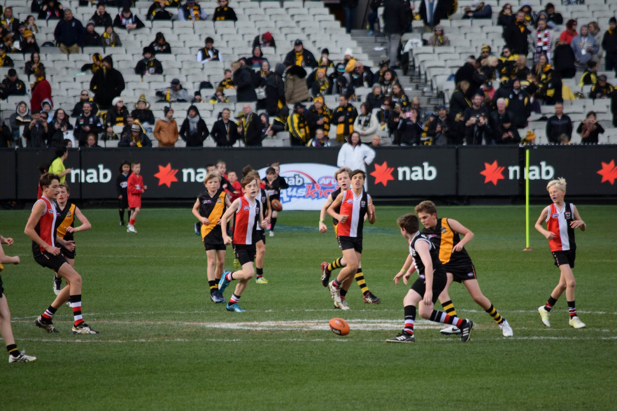 The Swanbourne Tigers and Cottesloe Magpies played at the MCG.