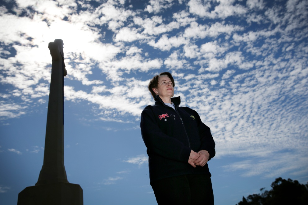 Susan Carter is setting up a charity that will ensure the gravestones of dead war veterans are left with a sign of remembrance each Anzac Day and Remembrance Day. Picture: Andrew Ritchie