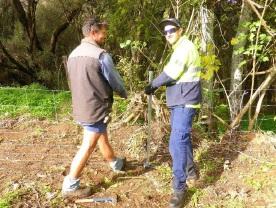 Green Army team members are helping landholders repair Murray River banks.