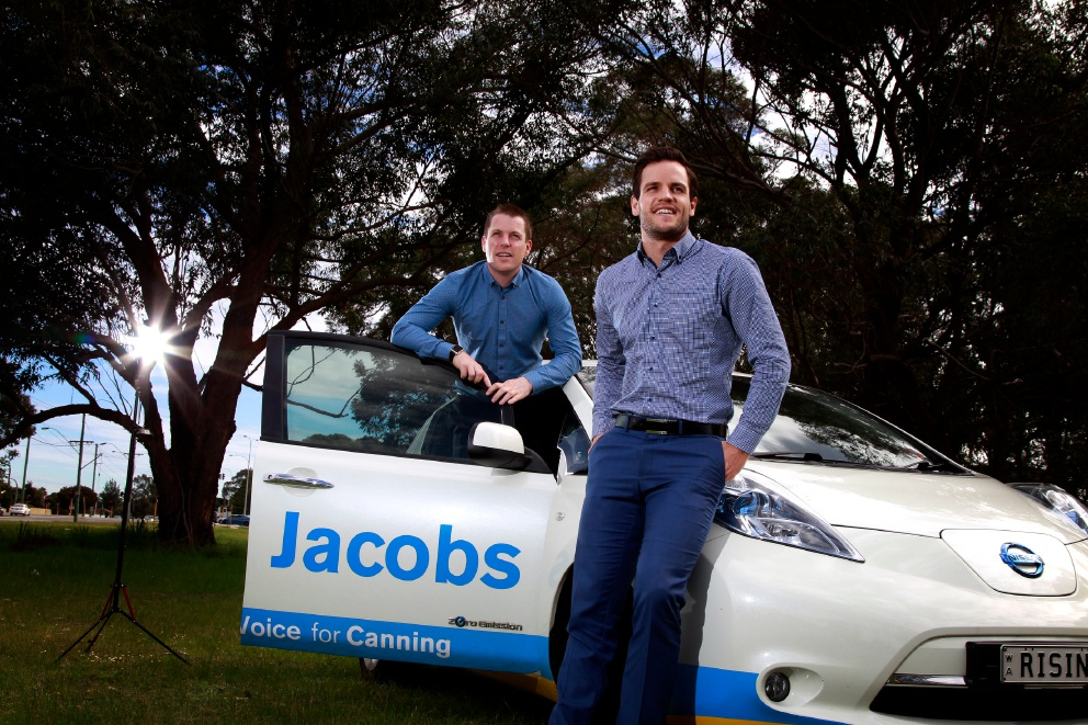 Brothers Jesse (left, Cannington) and Julian (Victoria Park) Jacobs are both are running for state parliament. Picture: Marie Nirme