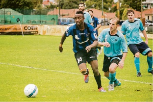 Bayswater City's Lawrence Shurama.
