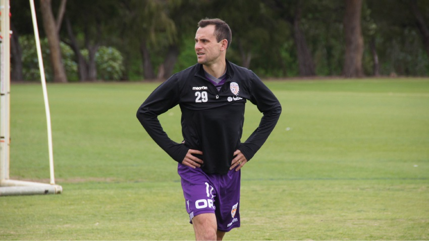 Glory captain Richie Garcia.