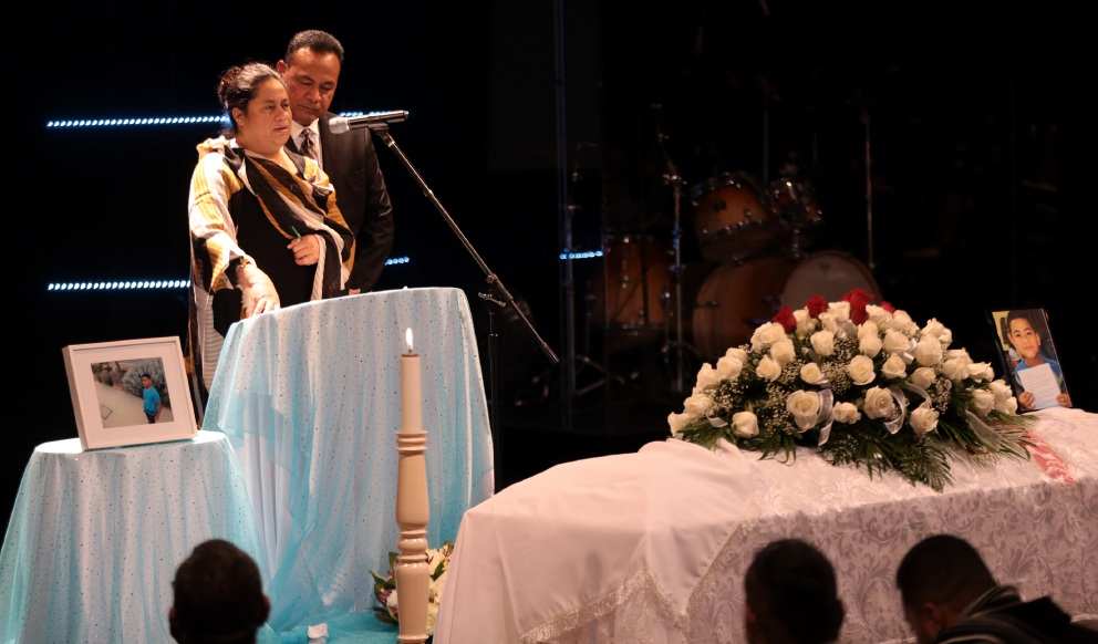 Samuel Aukuso Fuaivaa farewelled at emotional funeral service