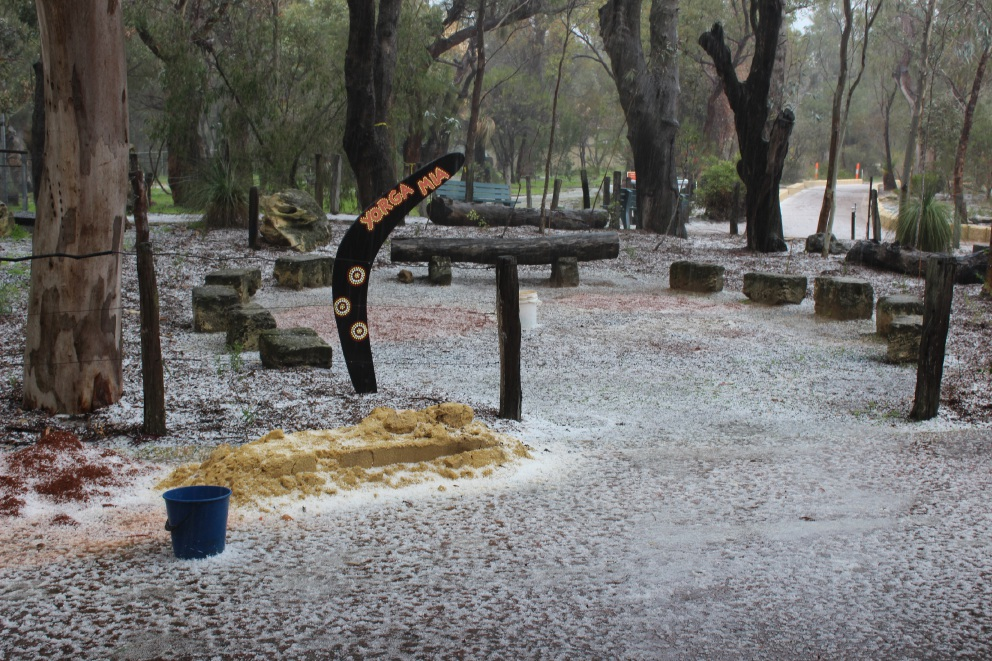 Yanchep District High students do some Dreamtime for Naidoc celebrations
