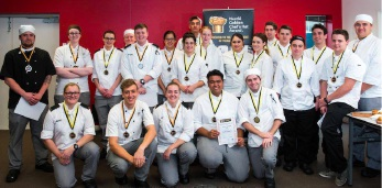 Medal winners at the 2016 Nestles Golden Chef's Hat Awards.