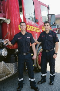 Melville residents Robert Sackett and Christopher Punch are among just 24 recent graduates from the Fire and Emergency Service Academy.