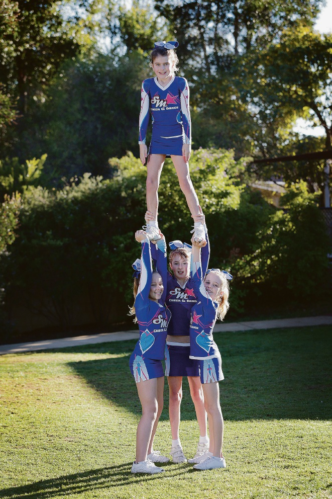 St Peter's Primary School cheerleaders going for Gold at Aussie championships
