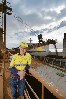 Alcoa of Australia's first shipment of WA Bauxite bound for China