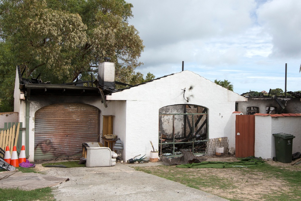 A fire at this Yanchep Beach Road home caused $300,000 damage. Picture: Will Russell