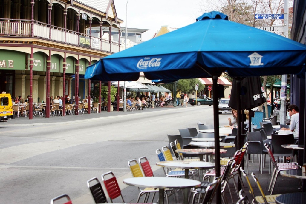 Fremantle's cafe strip.