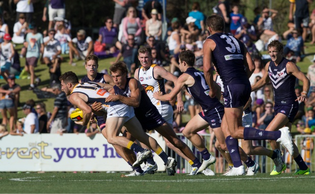 The Eagles last played at Arena Joondalup in 2014 against the Dockers. Picture: Dan White