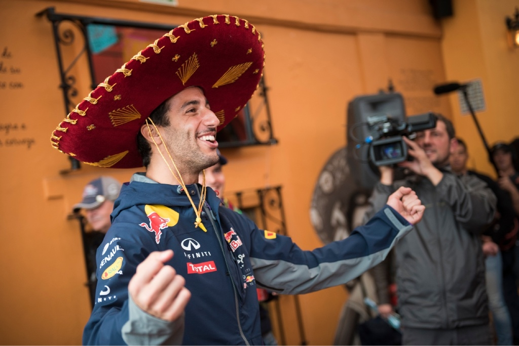 Daniel Ricciardo enjoys his time at the Mexican Grand Prix.
