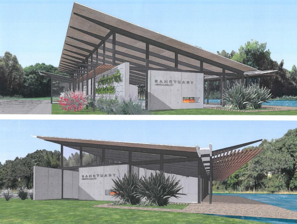 An artist's impression of the eco resort proposal for Mount Helena.