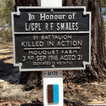 The Kings Park plaques of Bill Cockman and Richard Smales.