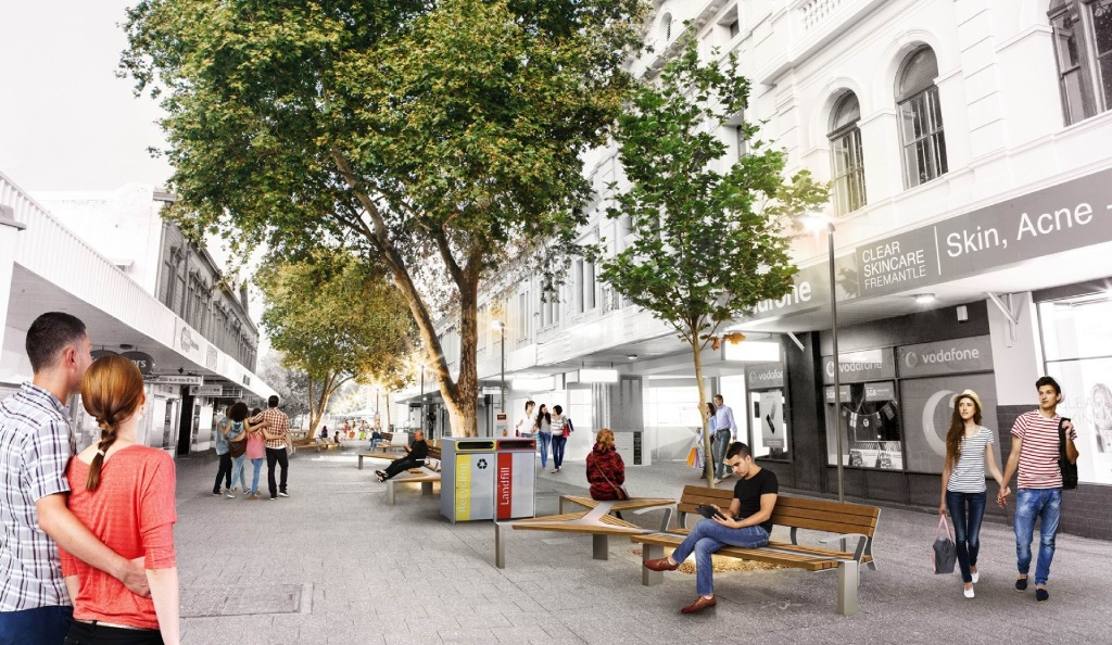 Fremantle mall improvements nearing completion