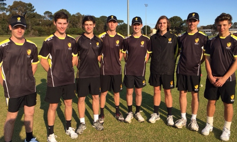 From left: Andrew South, Tristan Hobley, Connor Thorn, Connor Chadwick, Bailey Richards, Harrison Blake, Jake Riccardi and Emile Van Der Merwe.