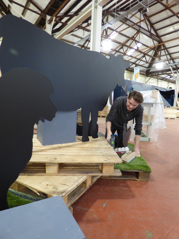 Alaric Korb working on the Coastal Group display for the Perth Royal Show.
