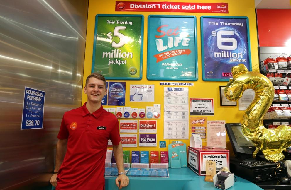 NewsXpress Ocean Keys staff member Keanu Combrinck at the store.  Picture: Martin Kennealey  d459927