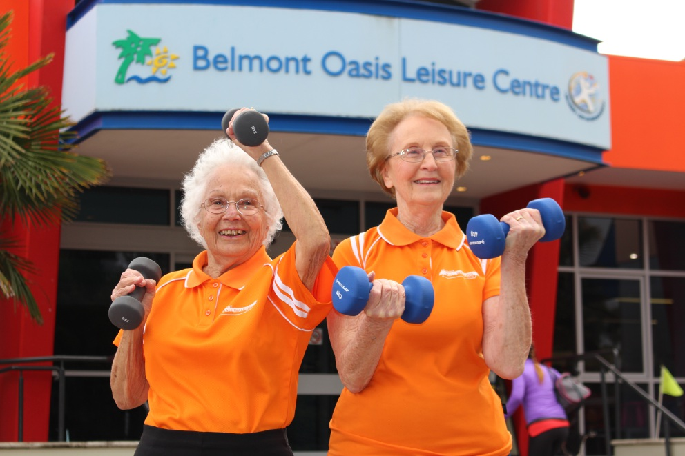 Belmont seniors relishing chance to pump iron as part of fitness program