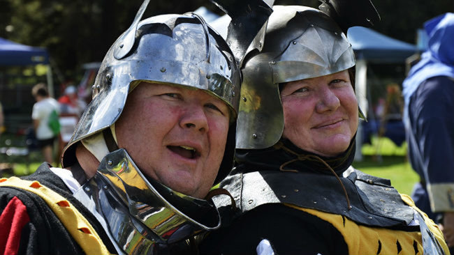 Medieval re-enactments on Sunday at Bassendean Primary School