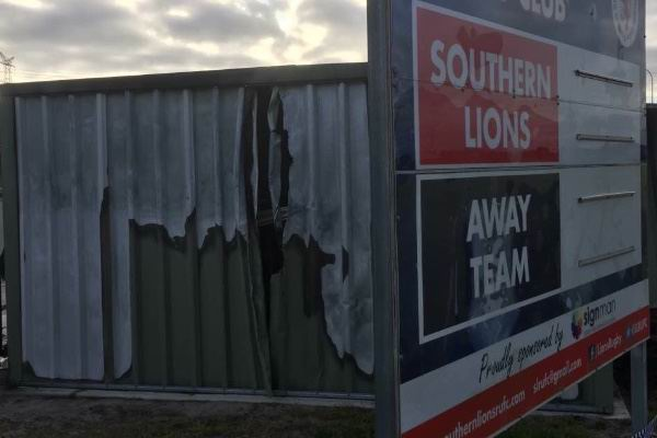 Southern Lions Rugby Union club fundraising after their equipment shed was set alight