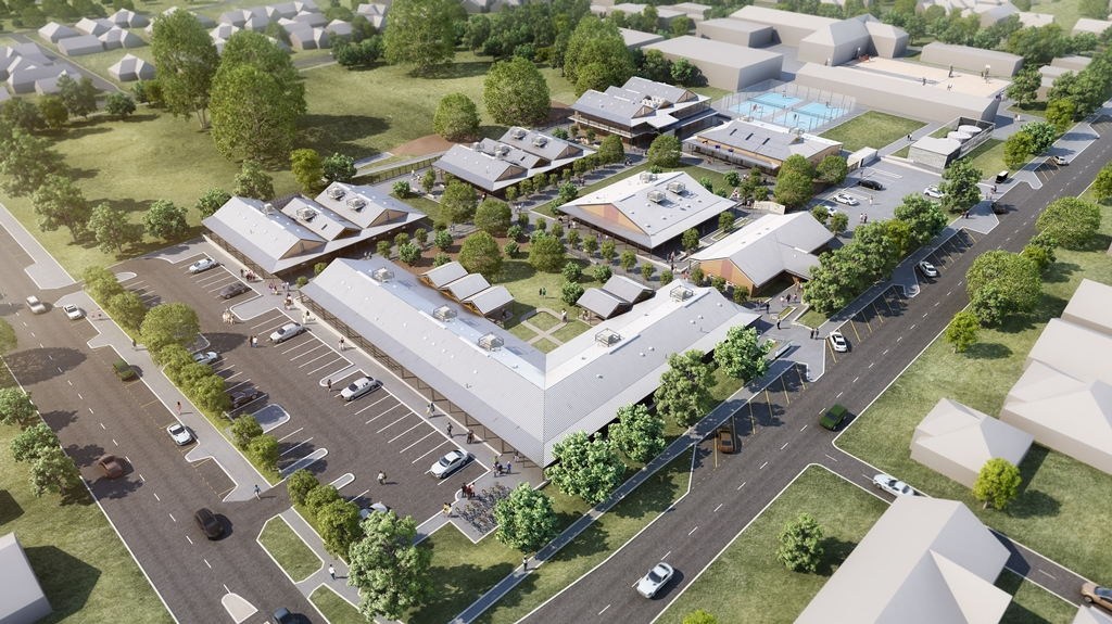 An artist's impression of the new Doubleview primary school site.