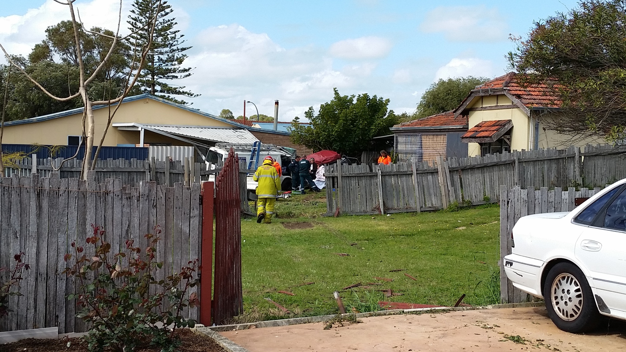 Resident injured as car ploughs through front yards in Rockingham
