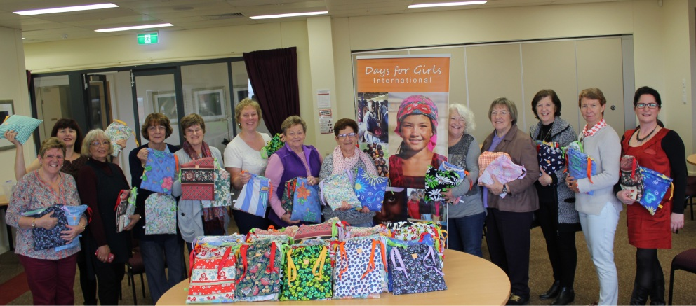 The Soroptimist International Joondalup group at their third sewing day.